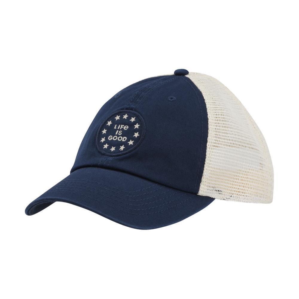 Life is Good New Logo Stars Soft Mesh Back Cap DARKESTBLU