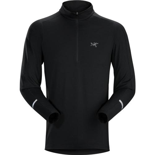 Arc'Teryx Men's Cormac Zip Neck Long Sleeve Shirt Black