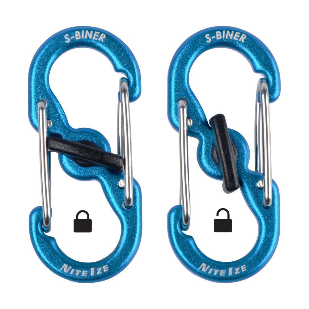 Nite Ize S-Biner Microlock Aluminum - 2-Pack - Blue BLUE