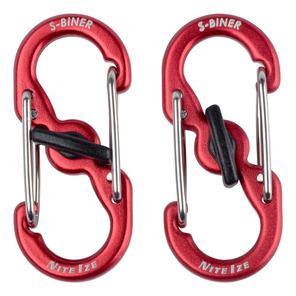 Nite Ize S-Biner TagLock Aluminum - 2-Pack - Red RED