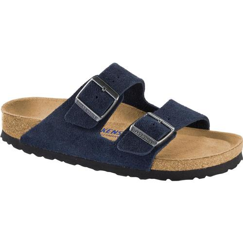 Birkenstock Men's Arizona Suede Soft Footbed Sandals Night