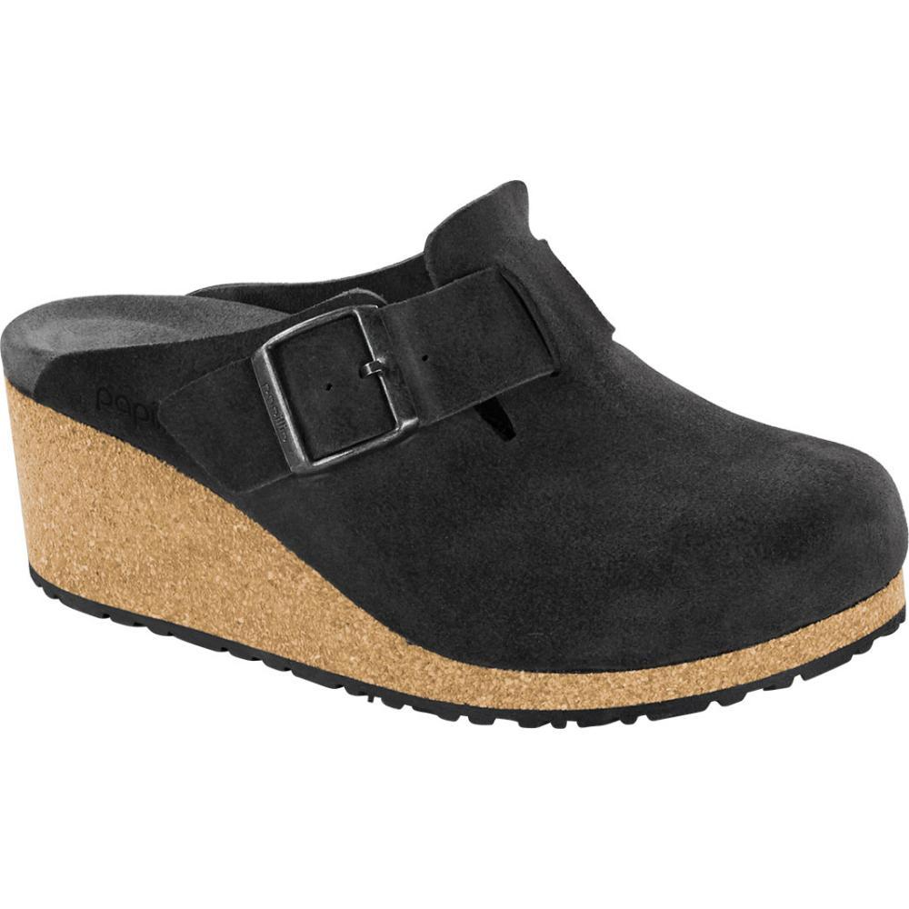 Birkenstock Women's Papillio Fanny Suede Leather Clogs - Narrow ANTHRACITE