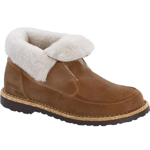 Birkenstock Women's Bakki Suede Leather Boots Tea.Nat