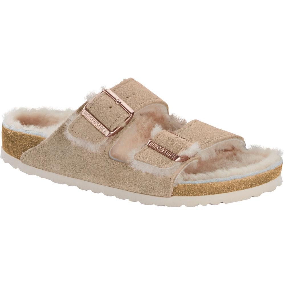 Birkenstock Women's Arizona Shearling Sandals NUDENUD