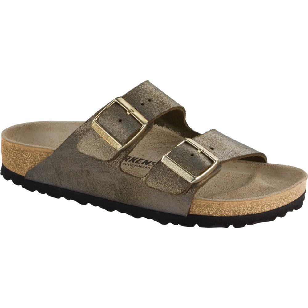 Birkenstock Women's Arizona Leather Sandals WMTLSTGOLD
