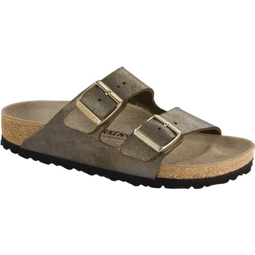 Birkenstock Women's Arizona Leather Sandals Wmtlstgold