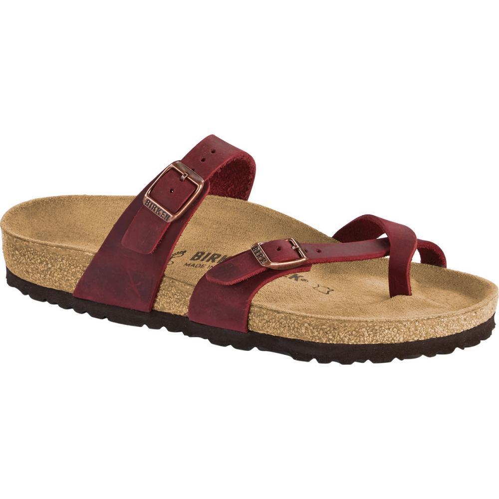 Birkenstock Women's Mayari Oiled Leather Sandals ZINFANDL