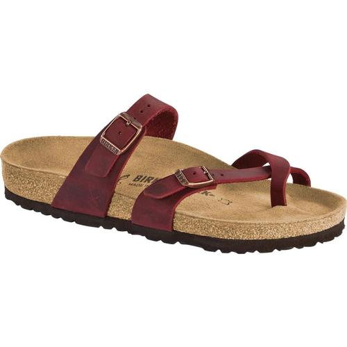 Birkenstock Women's Mayari Oiled Leather Sandals Zinfandl