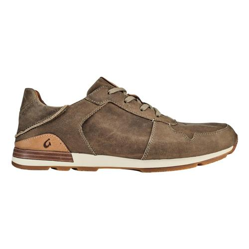 Olukai Men's Huaka'i Li  Waxed Nubuck Leather Sneakers Cly.Cly_1010