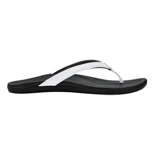 OluKai Women's Ho'opio Sandals Wht.Onx_4rox