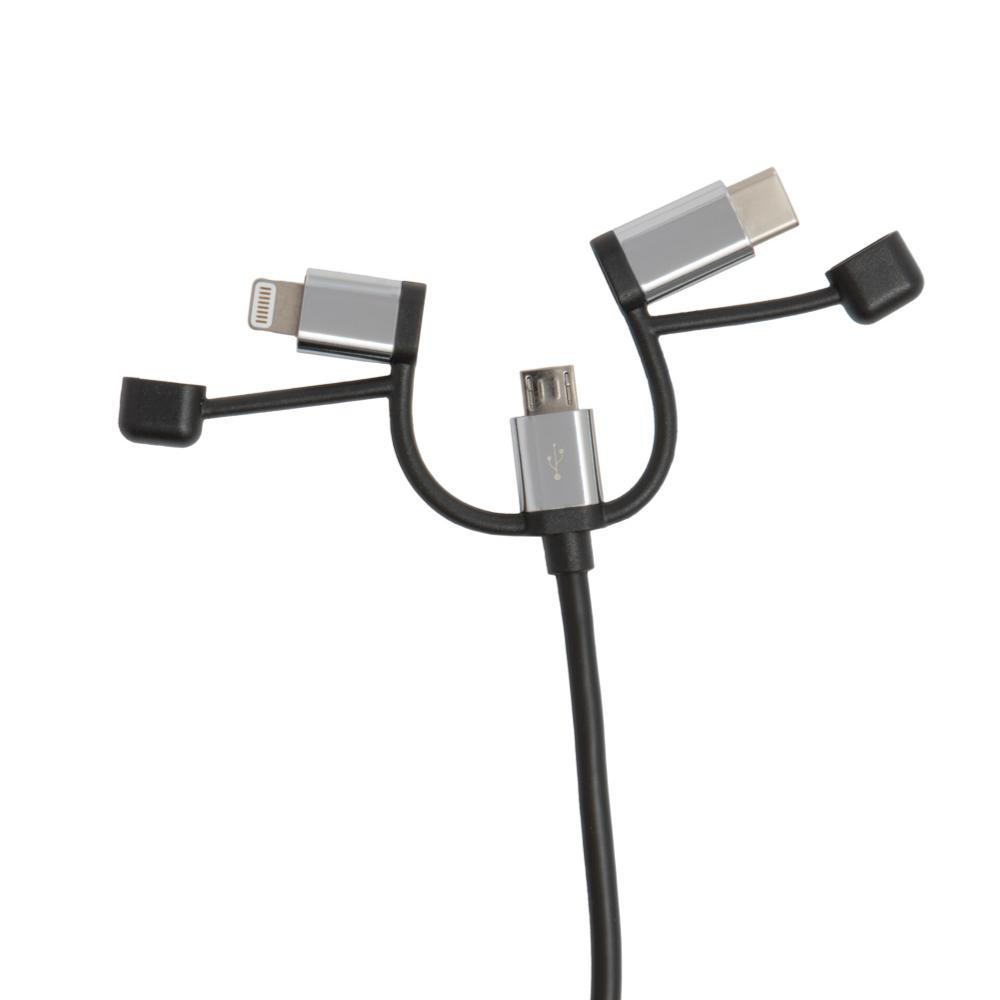 Outdoor Tech Calamari Ultra Lightning, USB C & Micro USB Cable BLK.CHROME