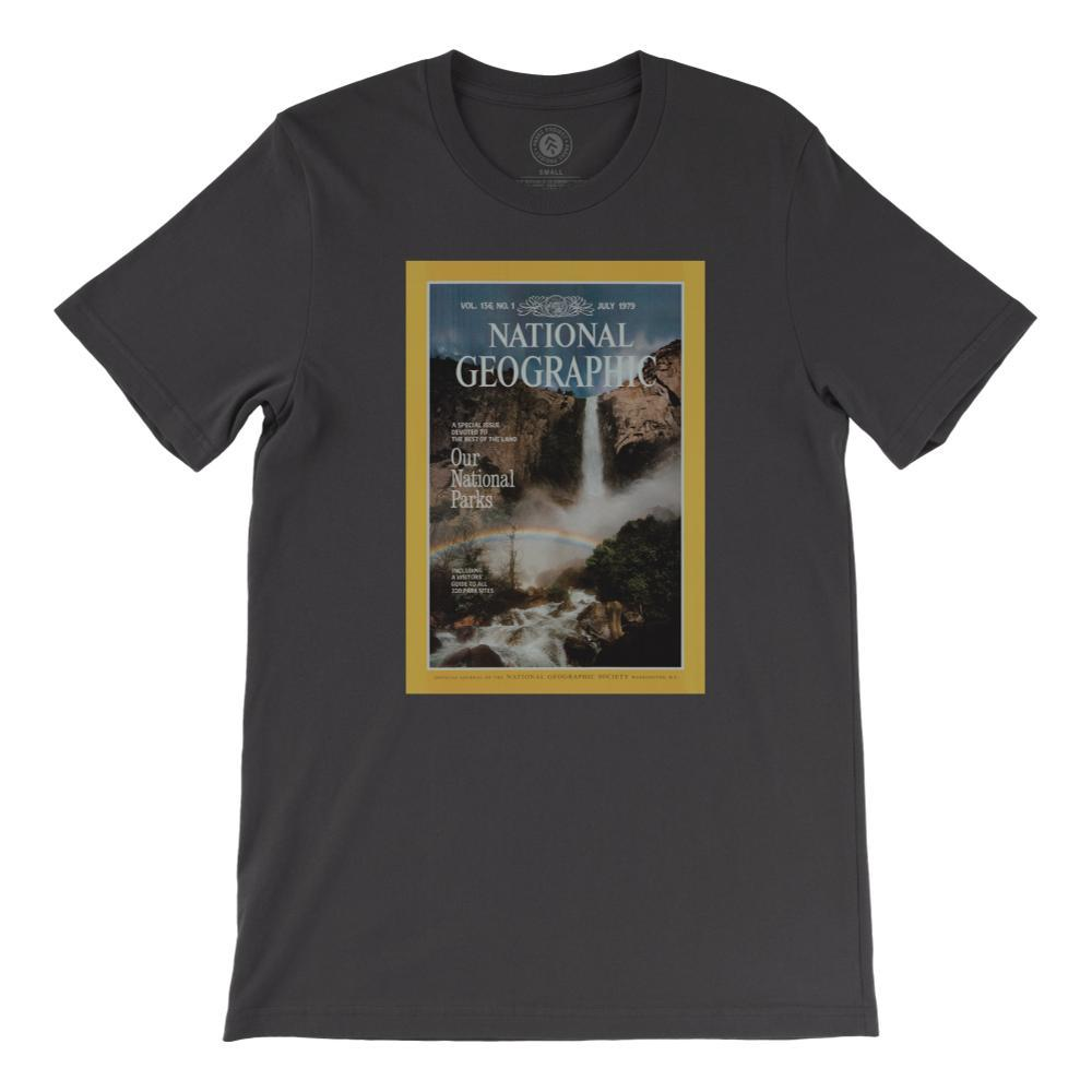 National Geographic X Parks Project Vintage Magazine Cover Tee VINTGBLACK