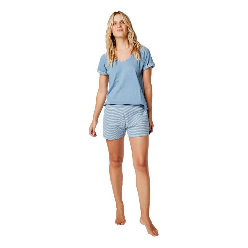 Carve Designs Women's Insley V-Neck T-Shirt LAKE