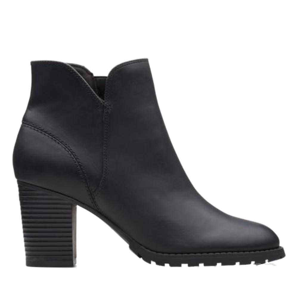 Clarks Women's Verona Trish Ankle Boots BLACK.LTH