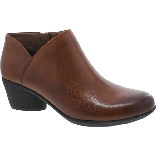 Dansko Women's Raina Chestnut Burnished Calf Booties Chsntburn