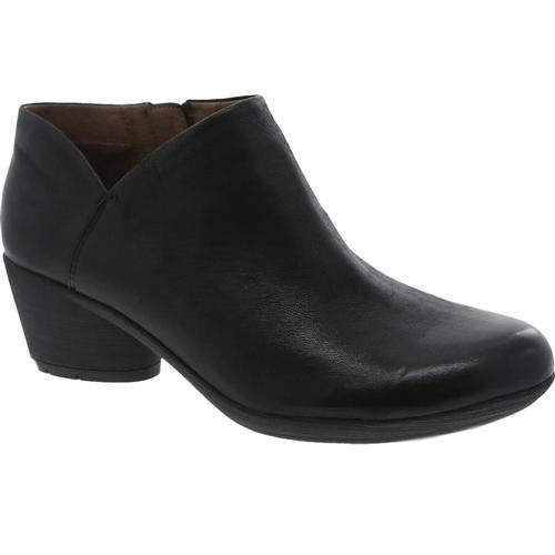 Dansko Women's Raina Black Burnished Nubuck Booties Blkburn.Nb
