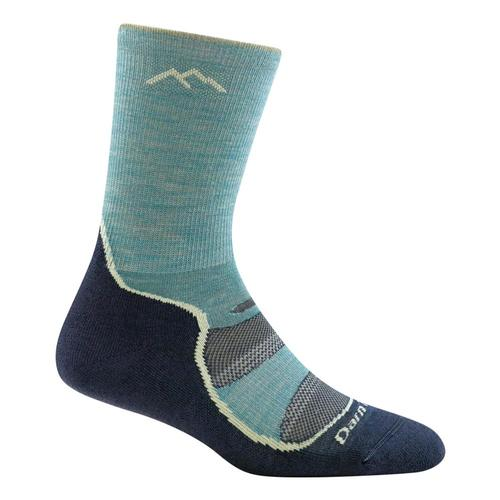 Darn Tough Women's Light Hiker Micro Crew Light Cushion Socks Aqua