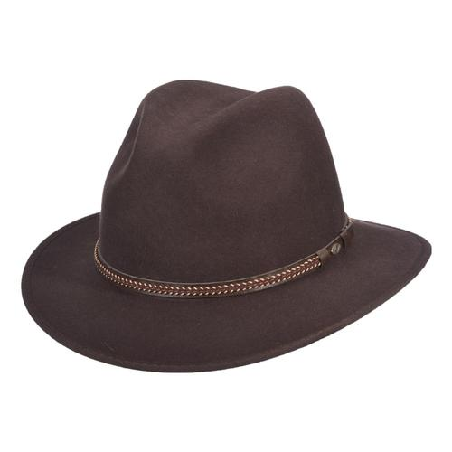 Dorfman-Pacific Co. Scala Men's Charlotte Hat Chocolate