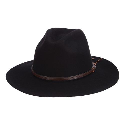 Dorfman-Pacific Co. Scala Men's Houston Hat Black