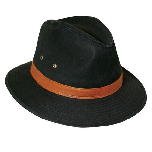 Dorfman-Pacific Co. Cotton Safari Hiker Hat Black