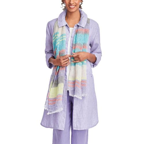 FLAX Women's Daily Duster Jacket Lilacstria