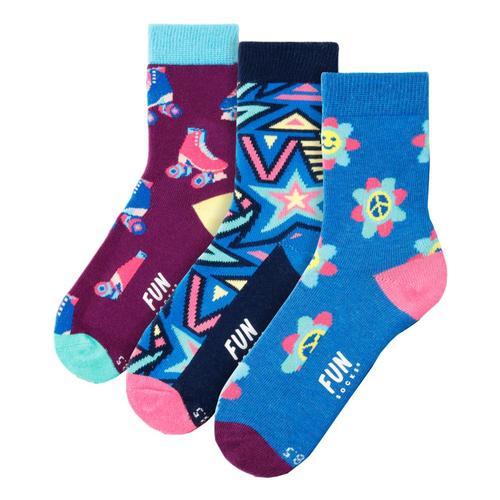 Fun Socks Kids Peace Power Love Socks 3pk Peace