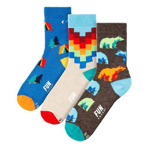 Fun Socks Kids Bear Socks 3pk Bear