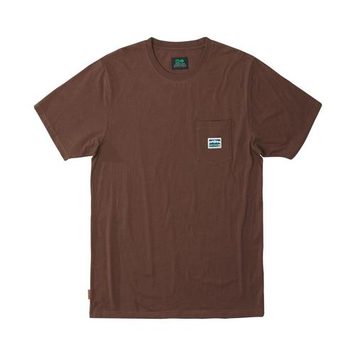 HippyTree Men's Tradesman Knit Tee Chocolate