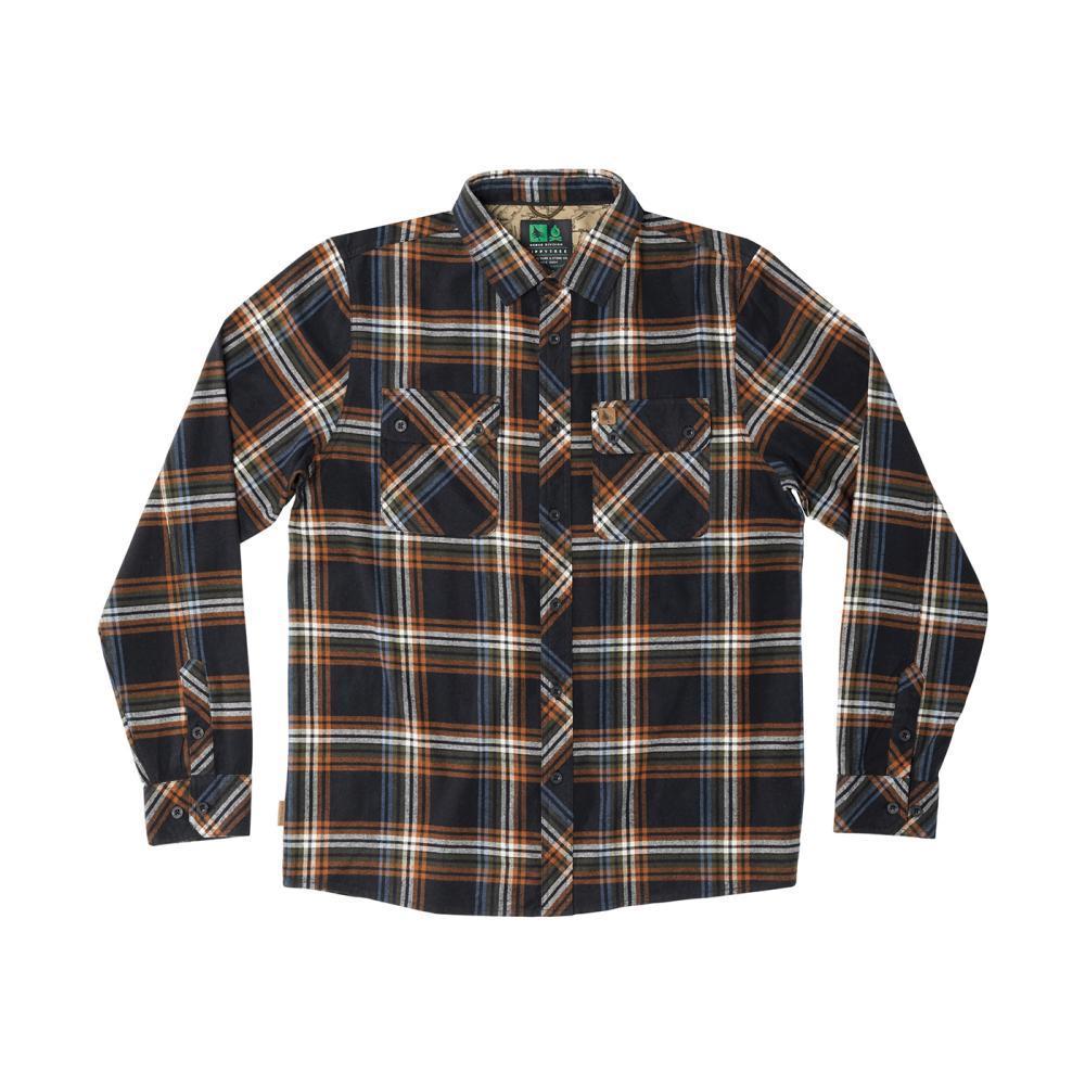HippyTree Men's Signal Flannel Long Sleeve Shirt BLACK