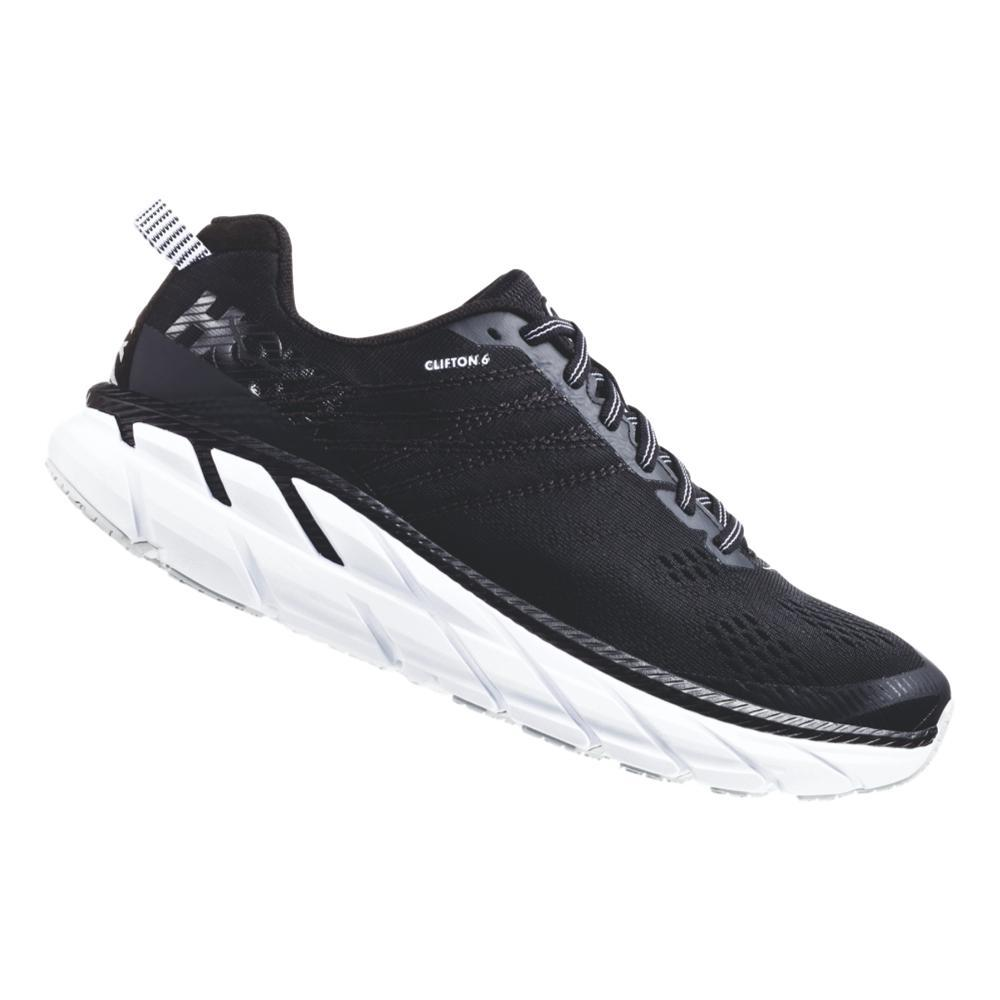 HOKA ONE ONE Men's Clifton 6 Road Running Shoes BLK.WHT_BWHT