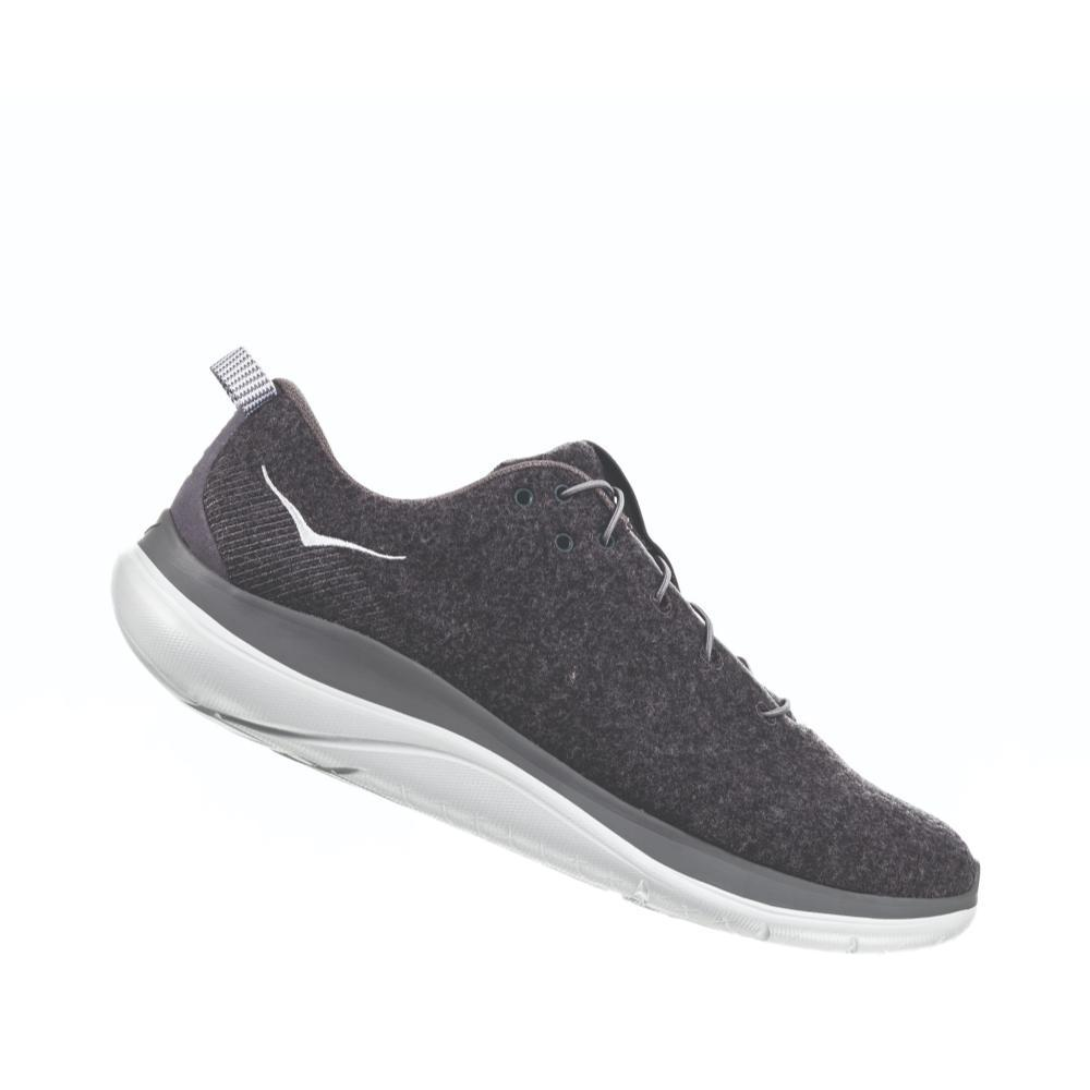 HOKA ONE ONE Men's Hupana Flow Wool Shoes DKSHD.CGRY_DSCG