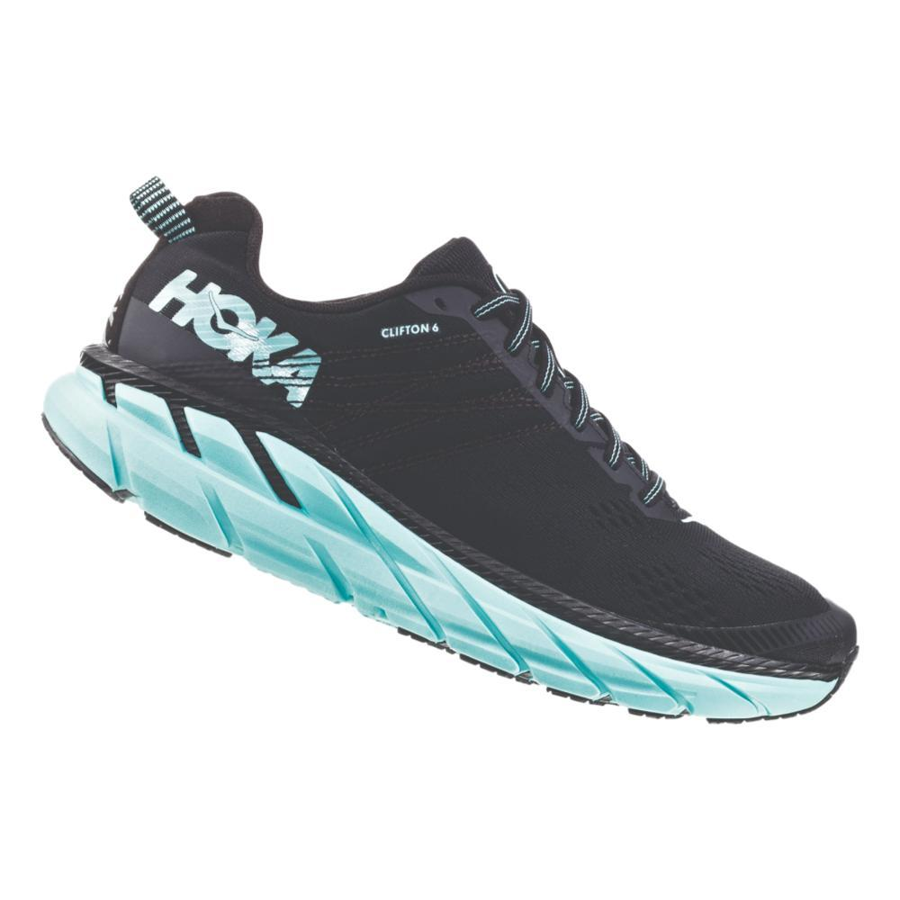 HOKA ONE ONE Women's Clifton 6 Road Running Shoes BLK.AQSKY_BASY