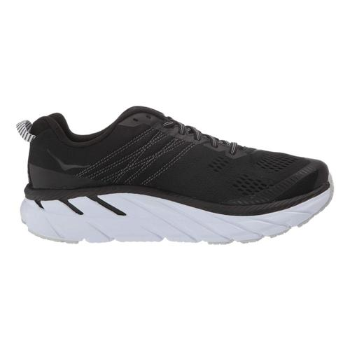 HOKA ONE ONE Women's Clifton 6 Road Running Shoes Blk.Wht_bwht