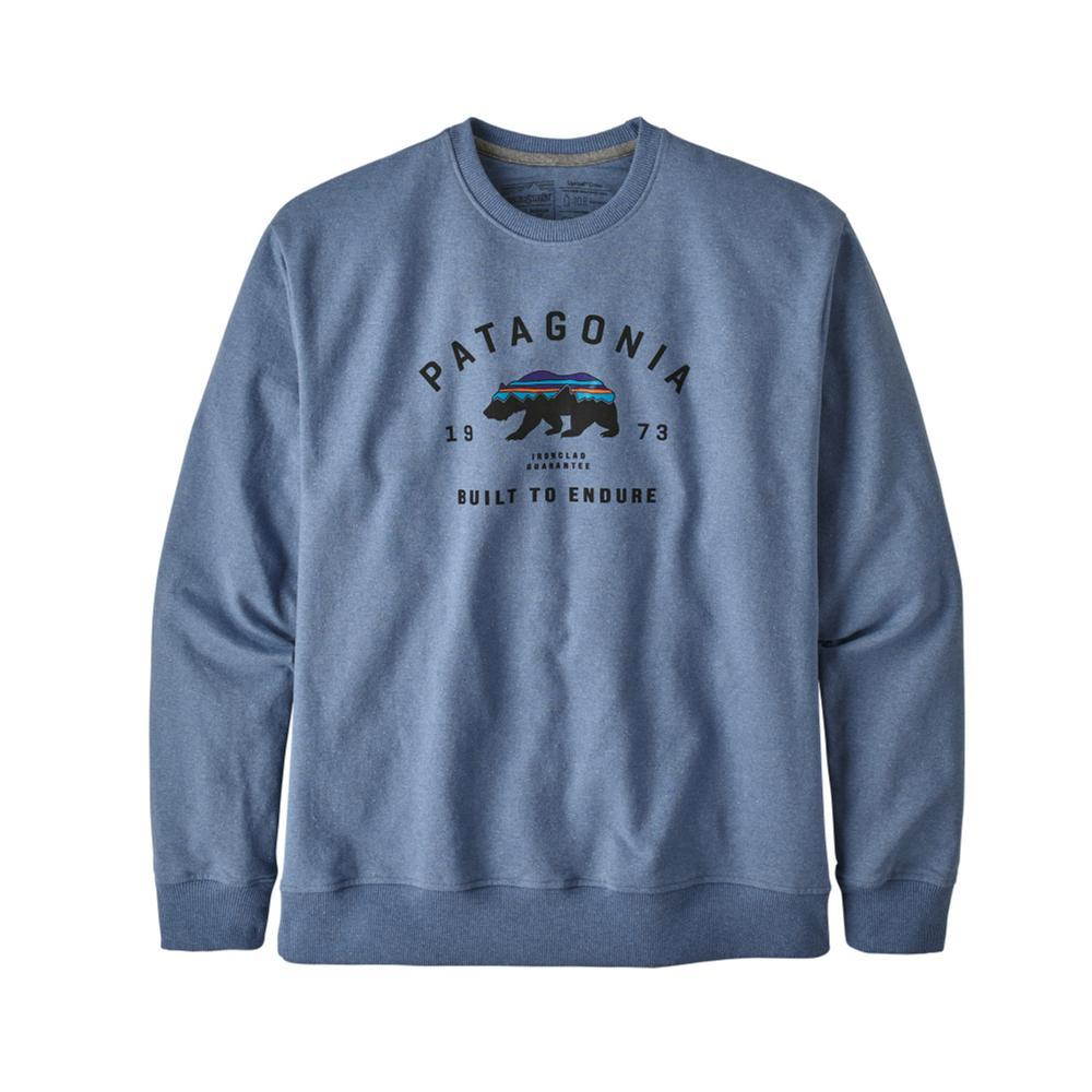 Patagonia Men's Arched Fitz Roy Bear Uprisal Crew Sweatshirt BLUE_WOBL