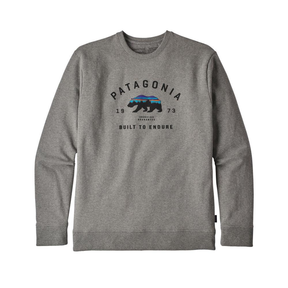 Patagonia Men's Arched Fitz Roy Bear Uprisal Crew Sweatshirt GLH_GREY