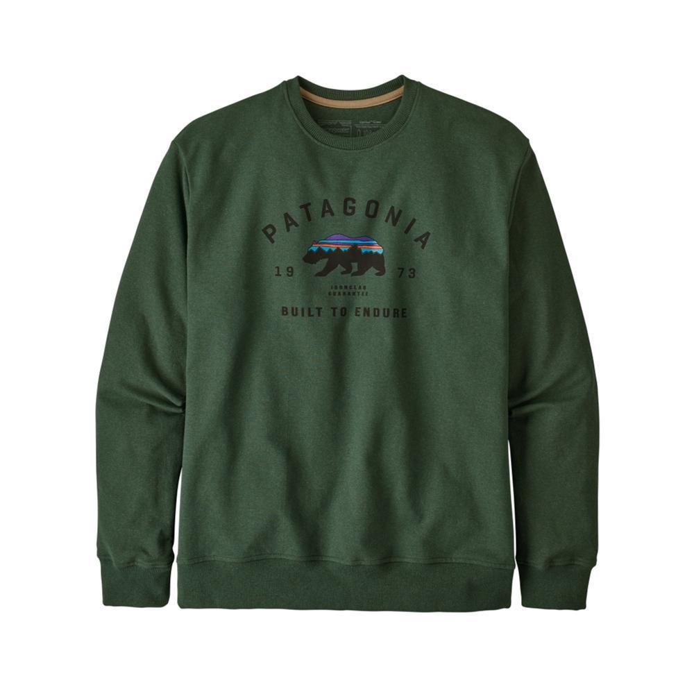 Patagonia Men's Arched Fitz Roy Bear Uprisal Crew Sweatshirt GRN_ARGR