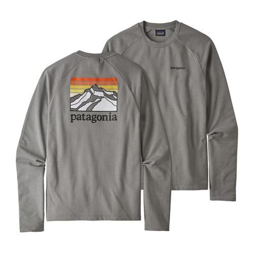 Patagonia Men's Line Logo Ridge Lightweight Crew Sweatshirt Fea