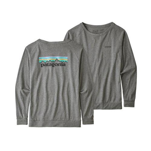 Patagonia WomenÕs Long Sleeved Pastel P-6 Logo Responsibili-Tee Glh