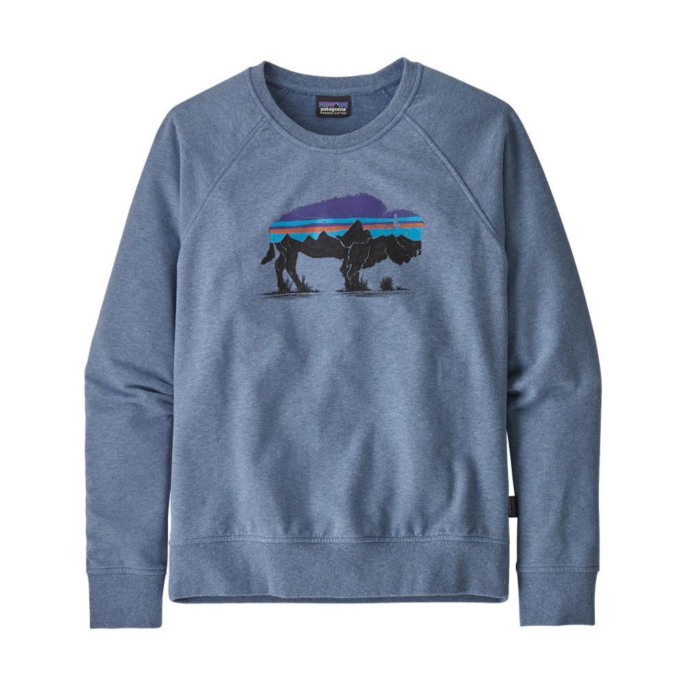 Patagonia Women's Fitz Roy Bison Ahnya Crew Sweatshirt BLUE_WOBL