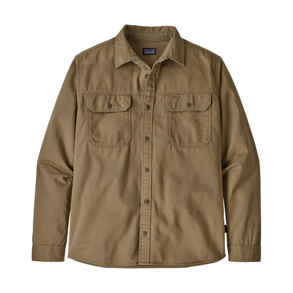 Patagonia Men's Long-Sleeved Four Canyons Twill Shirt KHAKI_MJVK
