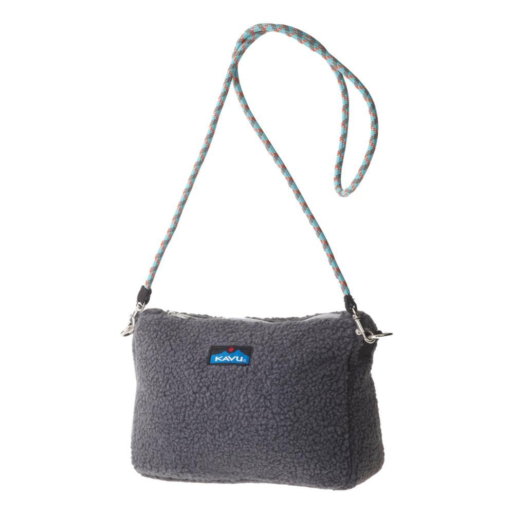 KAVU So Fleecey Cross Body Bag CHARCOA_93