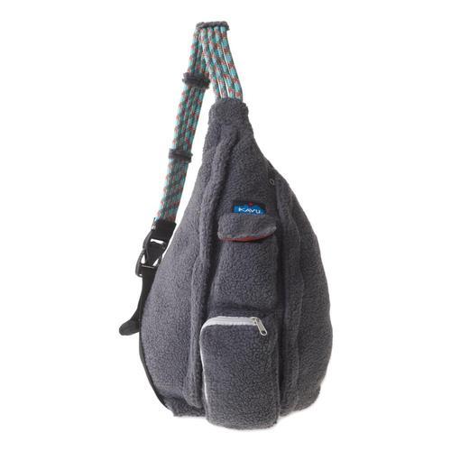 KAVU Rope Fleece Sling Pack Charcoa_93