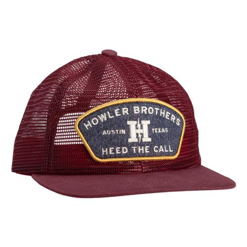 Howler Brothers Feedstore Snapback Hat Oxblood