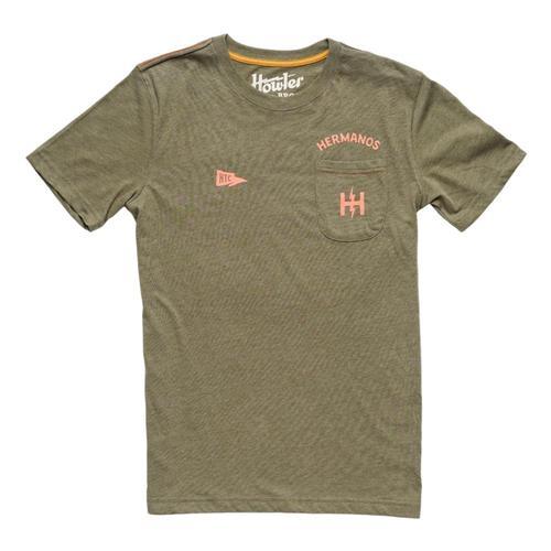 Howler Brothers Men's Hermanos Pocket T-Shirt Fatigue