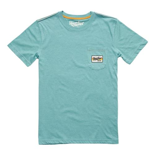 Howler Brothers Men's Electric Stripe Pocket T-Shirt Seafoamblu