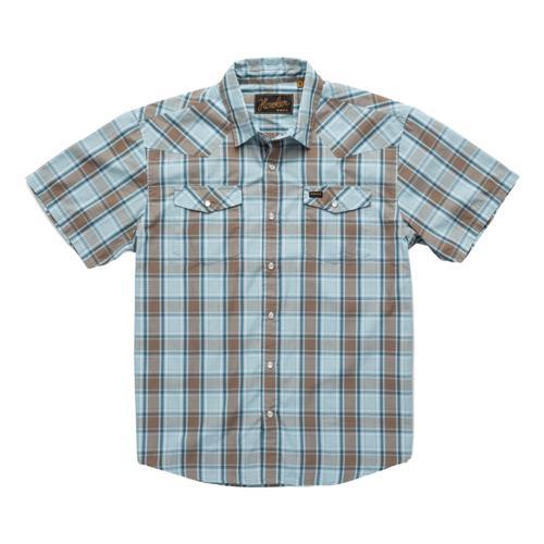 Howler Brothers Men's H Bar B Snapshirt Blue_cpb