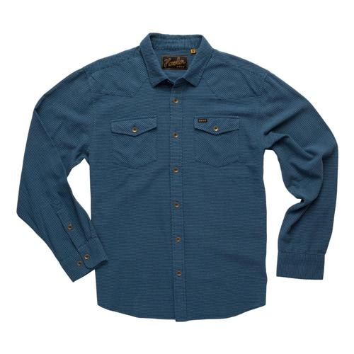 Howler Brothers Men's Sheridan Shirt Navy_pnn