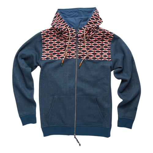 Howler Brothers Men's Shaman Hoodie Blue_shk