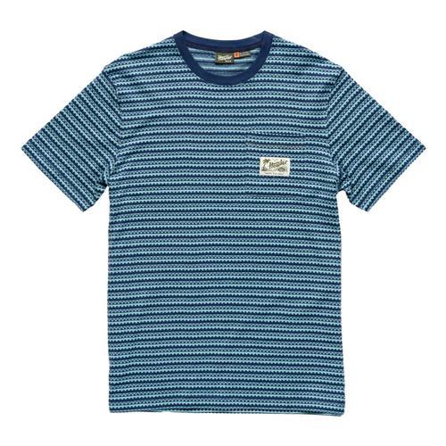 Howler Brothers Men's Zuma Jacquard Pocket T-Shirt Blue_stb