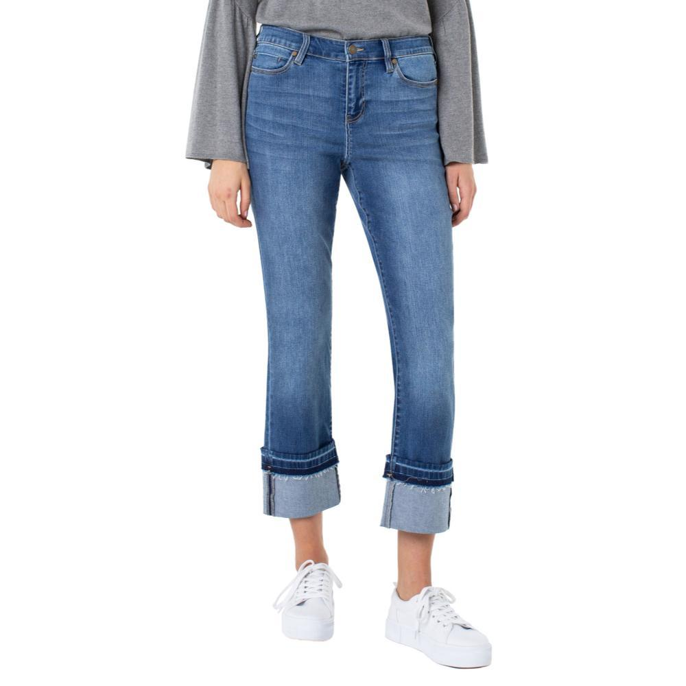 Liverpool Women's Sadie Crop Straight Wide Cuff Jeans THURSO